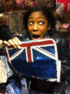 Markette British Flag sequined purse