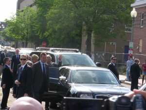 Prince Charles getting into his Bentley