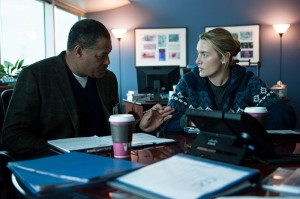 Laurence Fishburne and Kate Winslet