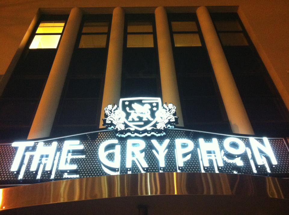 The outside of The Gryphon (photo by Travis Vaughn)