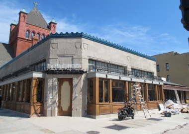 Le Diplomate at 14th & Q Streets NW in Logan Circle is being transformed from an old laundry.