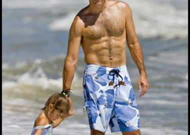 Today show host Matt Lauer on the beach in Buenos Aries during one of his Where in the World is Matt Lauer segments