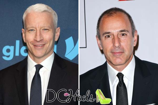 Anderson Cooper (left) is rumored to be on the short list to replace Matt Lauer (right) as host of the Today Show.Anderson Cooper (left) is rumored to be on the short list to replace Matt Lauer (right) as host of the Today Show.