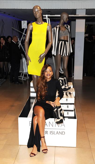 Rihanna show casing her clothing line