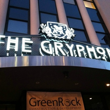 The outside of The Gryphon.