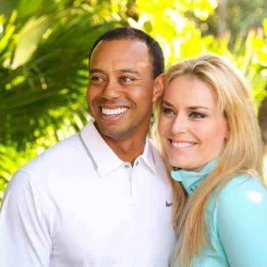 Tiger Woods and Lindsey Vonn