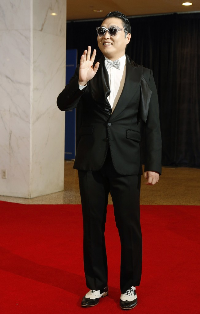 Psy on the red carpet of the WHCD. (NBC News)