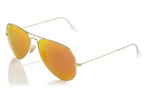 Ray Ban aviator mirrored sunglasses from eyegoodies.com