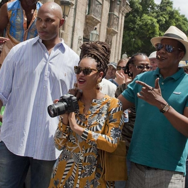Singer Beyonce and rapper Jay-Z in Old Havana, Cuba, April 4 celebrating their fifth wedding anniversary