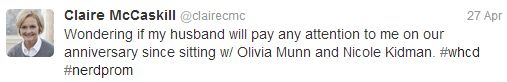 Tweet from Senator McCaskill.