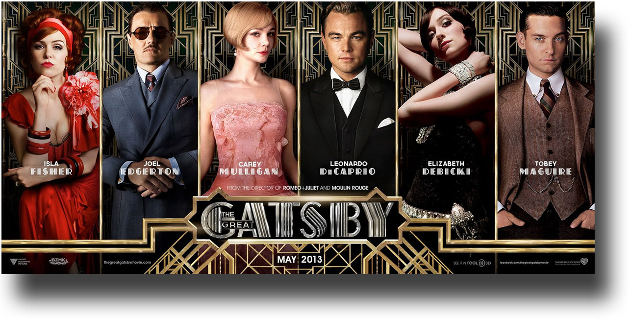 The cast of the Great Gatsby opening in May.