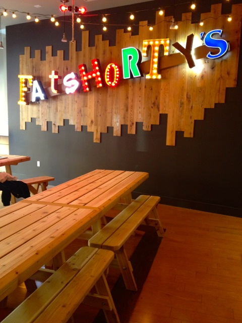 Fat Shorty's will seat 70 on communal picnic tables.