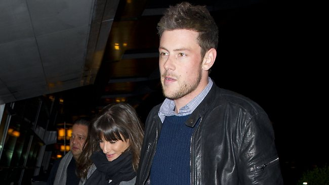 Lea Michele and Cory Monteith arrive at JFK airport in New York City.