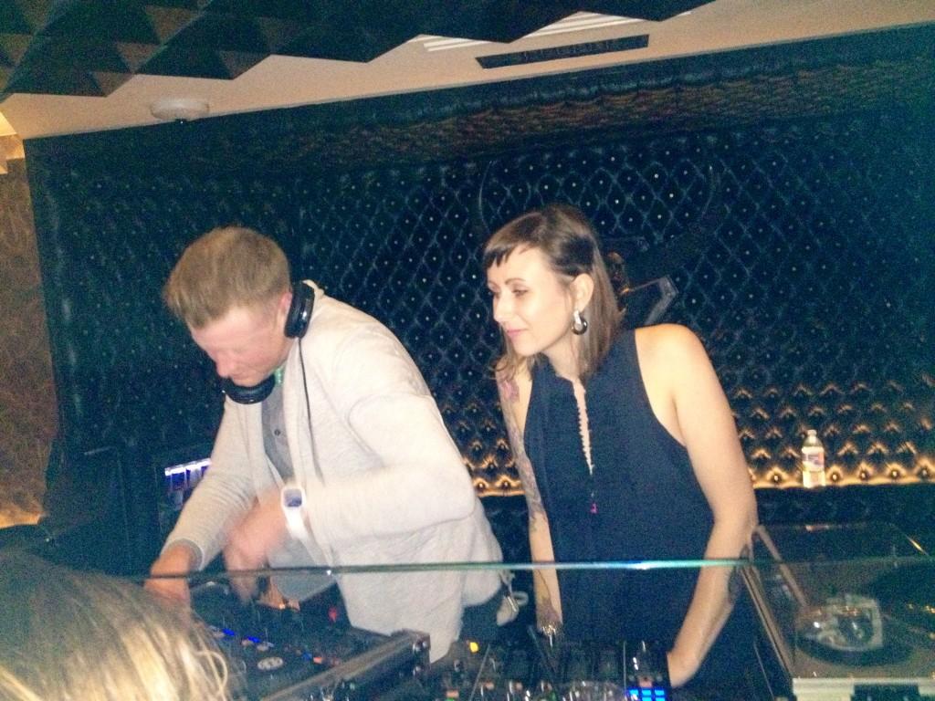 DJs Adam to the Max and .rar Kelly. (Abbie Elliott, DC on Heels)