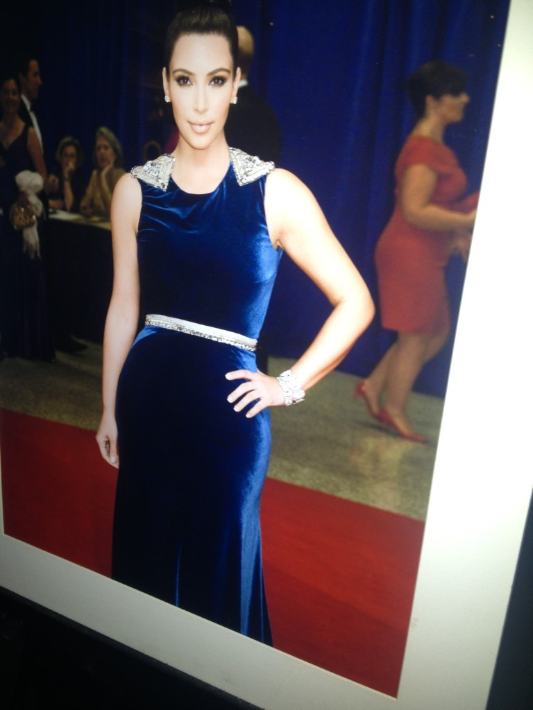 A photograph taken by Kris Connor of Kim Kardashian at the 2012 WHCD. (Abbie Elliott, DC on Heels)