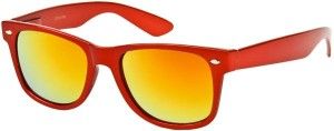 Orange mirrored wayfarer shades from Sunglass Warehouse.