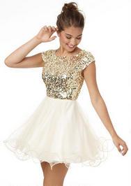 Cap Gold Sequin dress