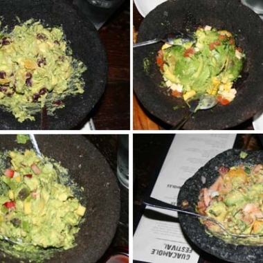 El Centro's guacamole festival includes (l to r) the Pacifico, the Norteno, the Yucatan and the Sur varieties. (Mark Heckathorn/DC on Heels)
