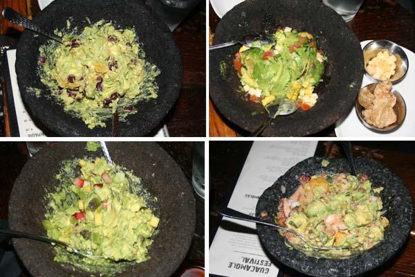 El Centro's guacamole festival includes (l to r) the Pacifico, the Norteno, the Yucatan and the Sur varieties. (Mark Heckathorn/DC on Heels)