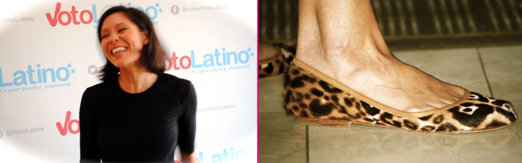 Wagner and her leopard print rag & bone flats (Ko Im/ DC on Heels)