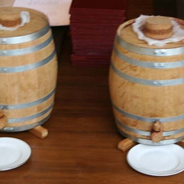 House made vinegar fills two oak barrels at Blue Duck Tavern (Mark Heckathorn/DC on Heels)