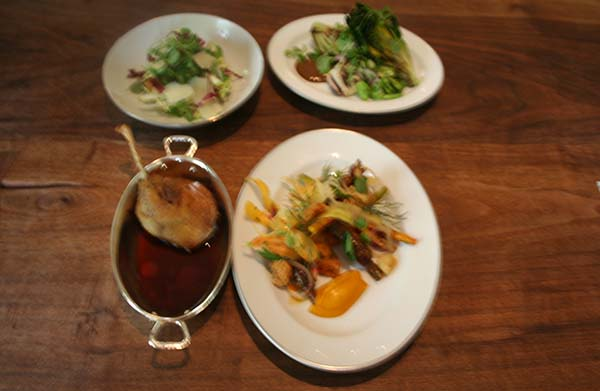 The three spring salads at Blue Duck Tavern made with house-made vinegar. (Mark Heckathorn/DC on Heels)