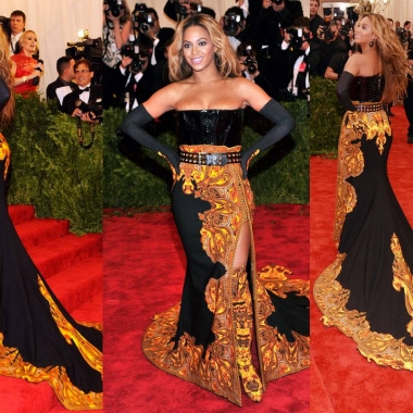 Beyonce at the Met Ball in New York City earlier this month.