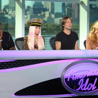 Current American Idol Judges Randy Jackson, Nicki Minaj, Keith Urban and Mariah Carey are reportedly out of jobs. (Michael Becker/Fox)