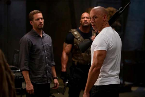 Paul Walker, Vin Diesel and Dwayne Johnson (L to R) are back in Fast & Furious 6. (Universal Pictures)