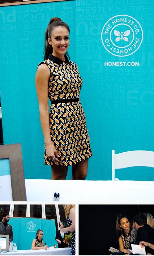 Jessica Alba, three ways - smiling, working, chatting at Bethesda Row (DC on Heels/Ko Im)