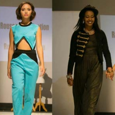 Fashions from a student fashion show