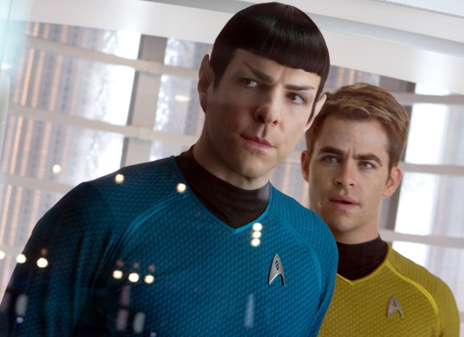 Zachary Quinto plays Commander Spock  and Chris Pine is Captain Kirk in <em>Star Trek Into Darkness</em> (Paramount)