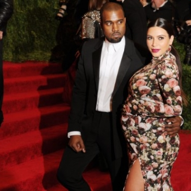 Kanye West and Kim Kardashian attend a gala t the Metropolitan Museum of Art on May 6, 2013 in New York City.