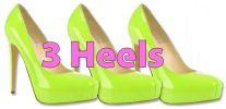 3 heels