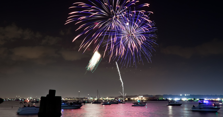 Fireworks over the Alexandria harbor in 2011. (Photo by Victor Wolansky)