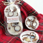 Macadamia nut fire starters from Double Brush (Photo by Etsy)