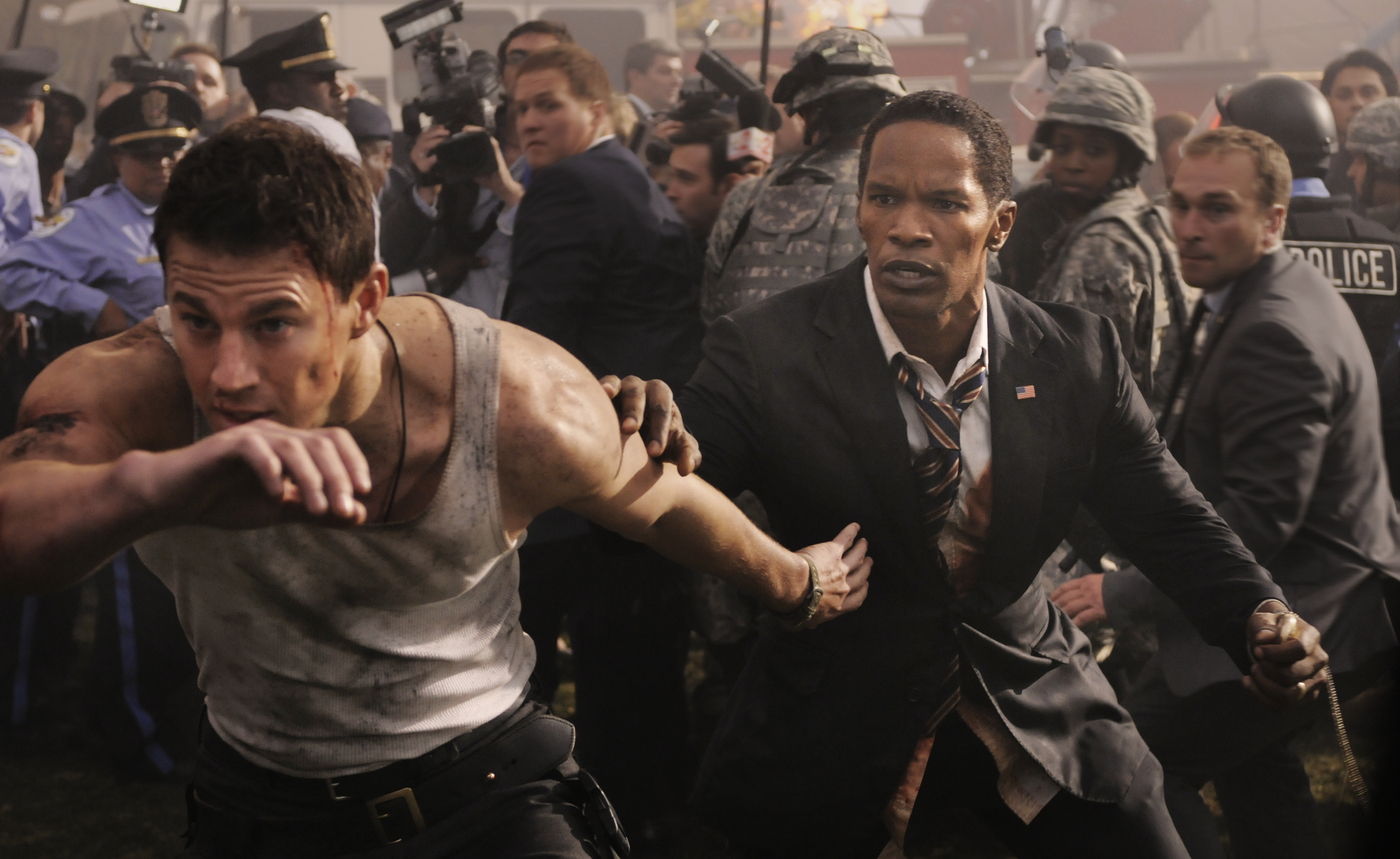 Channing Tatum, left, and Jamie Foxx star White House Down. (Photo courtesy Columbia Pictures)