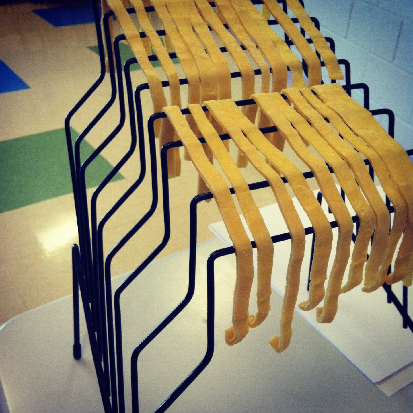 My paper files at work can also be used as pasta drying racks. (Kristy McCarron/DC on Heels)