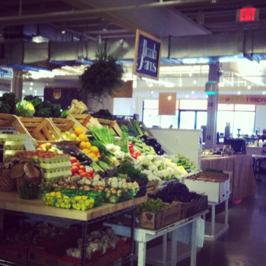 A produce stand inside Union Market. (Kristy McCarron/DC on Heels)
