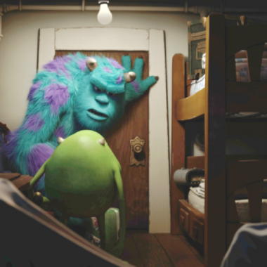 Sulley and Mike venture into the human world. (Photo courtesy Disney/Pixar)