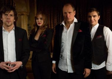 Jack Wilder (Dave Franco), J. Daniel Atlas (Jesse Eisenberg), Henley Reeves (Isla Fisher) and Merritt McKinney (Woody Harrelson) arrive at a New York City apartment to find out why they've been summoned. (Summit Entertainment)