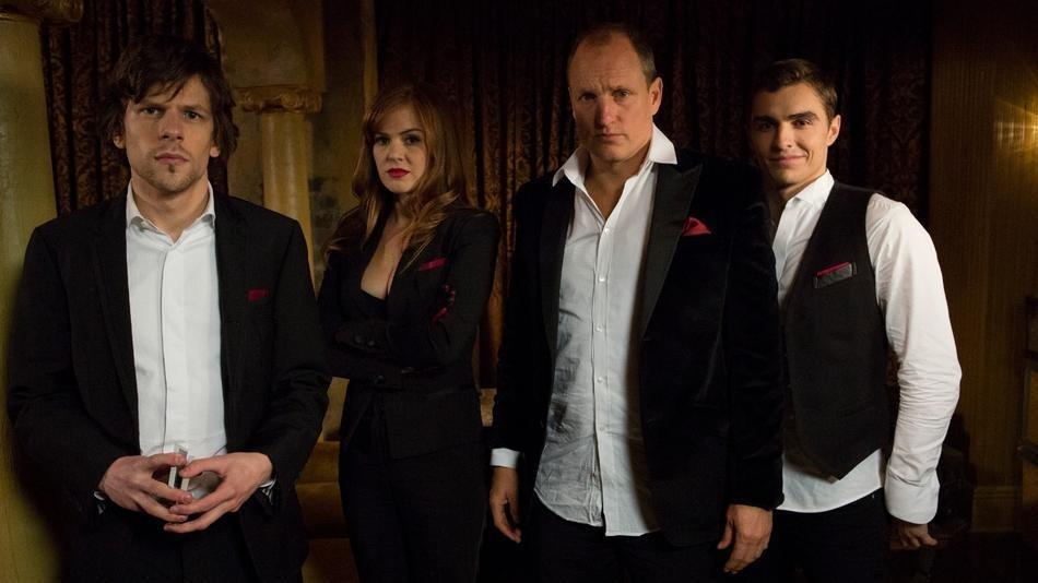 Jesse Eisenberg, Isla Fisher, Woody Harrelson and Dave Franco star in