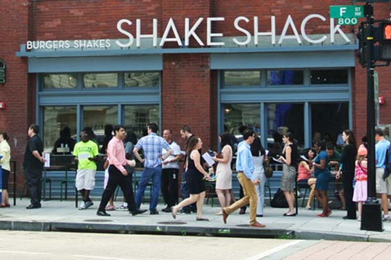 The Shake Shack recently opened its third D.C. location in Penn Quarter. (Photo courtesy of Shake Shack)
