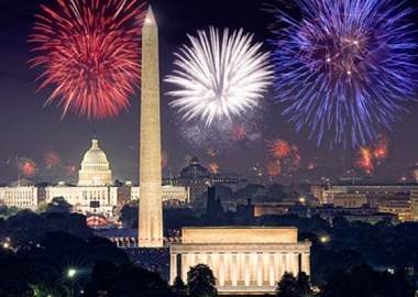 Fireworks over the National Mall (Photo courtesy of PBS)