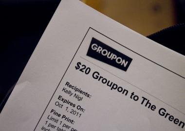 A Groupon coupon (Photo by Kelly Nigi)