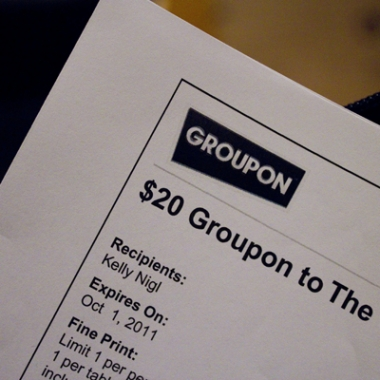 A Groupon coupon (Photo by Kelly Nigi)