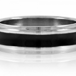 Joe's black enamel men's engravable stainless steel ring from Emitatiions (Photo by Emitations)
