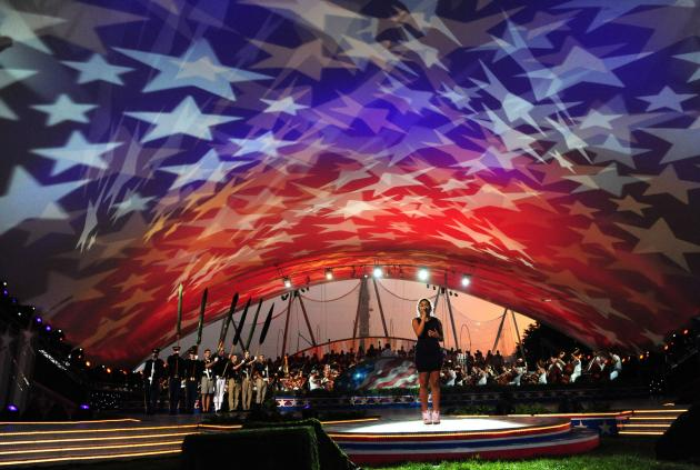 Jordin Sparks performs during the 2011 A Capitol Fourth ( /Kevin Dietsch/UPI)