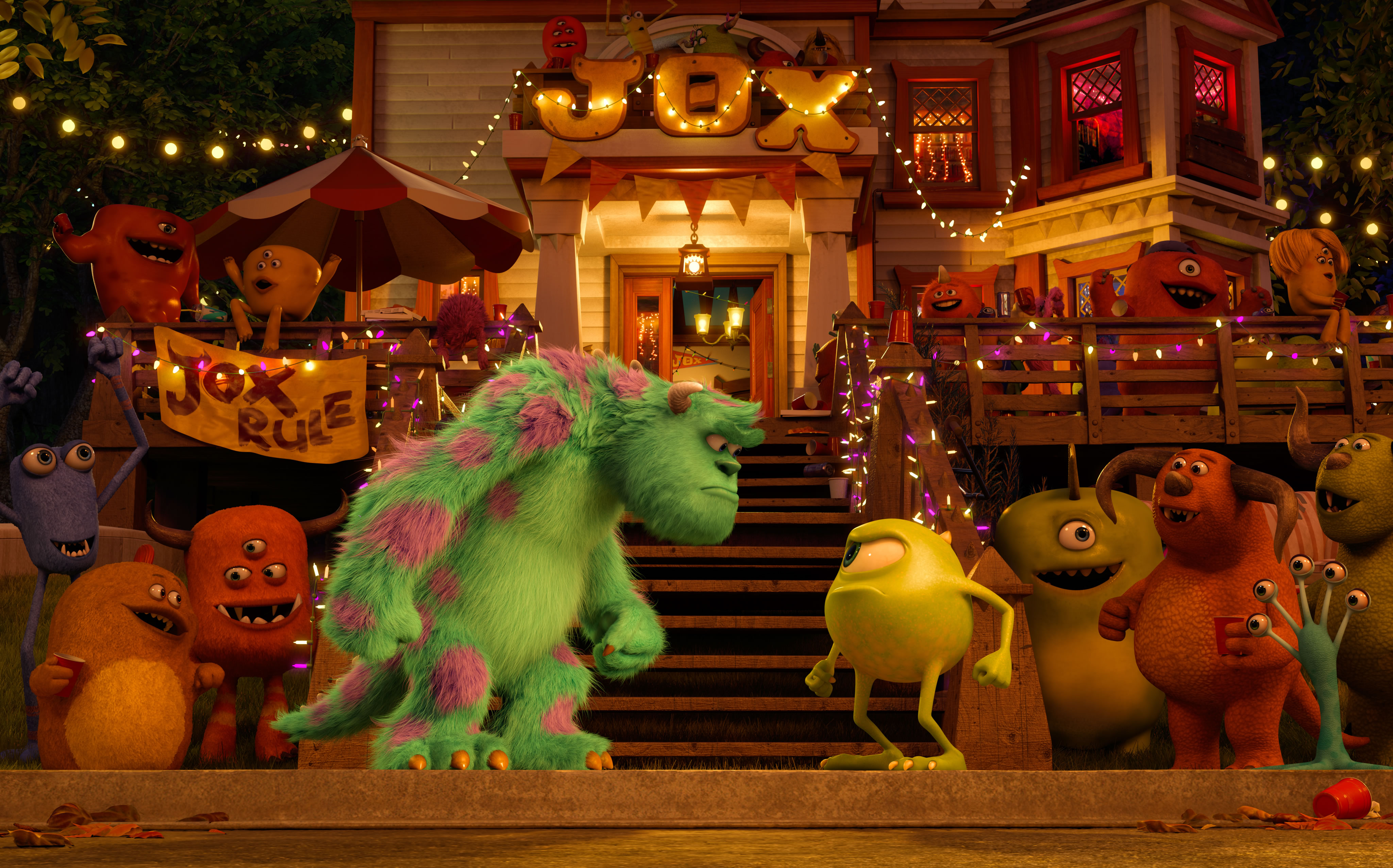 "John P. ""Sulley"" Sullivan and Mike Wazowski Don't start out at friends when they arrive at Monsters University. (Photo courtesy Disney-Pixar)"