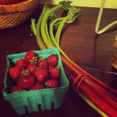 Strawberries and Rhubarb, heaven? (Kristy McCarron/DC on Heels)